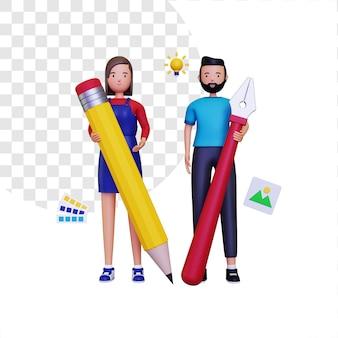 Illustration de la communauté de conception 3d