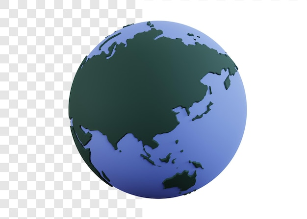Illustration de concept 3d du globe ou de la terre