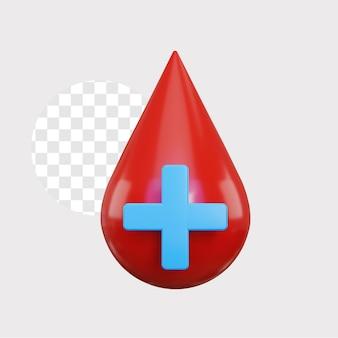 Illustration de concept de donneurs de sang 3d