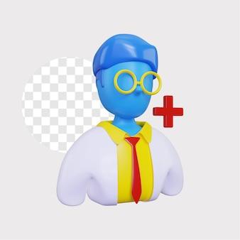 Illustration de concept de médecin 3d
