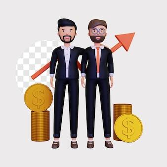 Illustration de concept de partenaire commercial 3d