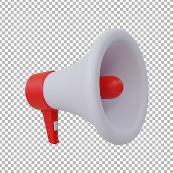 Illustration de conception de mégaphone 3d