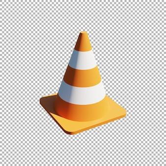 Illustration de cône de signalisation 3d