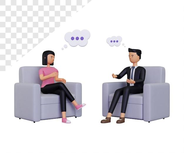 Illustration de consultation 3d