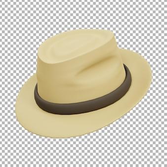 Illustration de fedora crème 3d