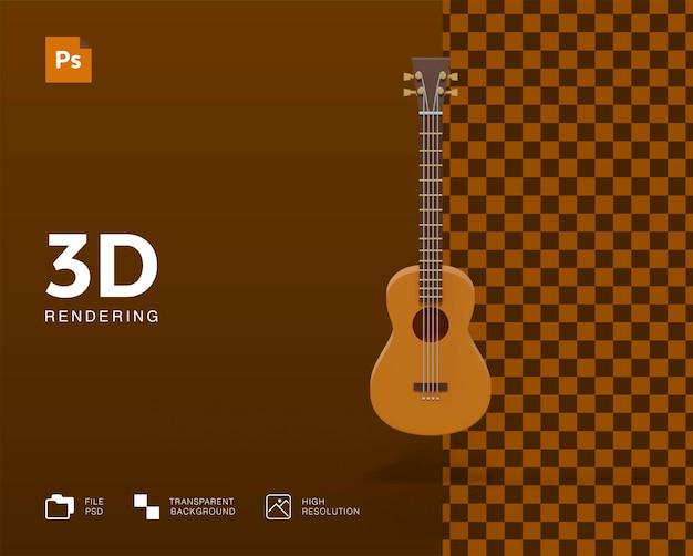 Illustration de guitare 3d