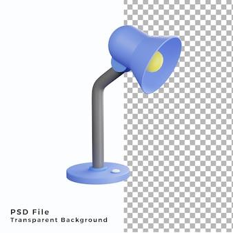 Illustration d'icône de lampe d'étude 3d fichiers psd de haute qualité