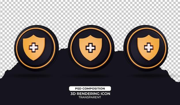 Illustration de l'icône de protection de rendu 3d