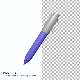 Illustration d'icône de stylo 3d fichiers psd de haute qualité