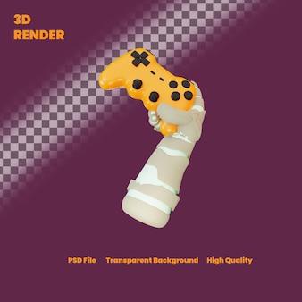 Illustration de joueur de zombie de rendu 3d pour halloween