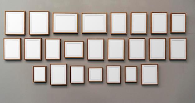 Illustration de maquette de cadre photo en bois