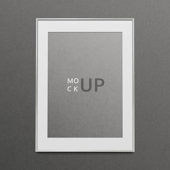 Illustration de maquette de cadre photo gris
