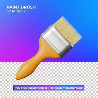 Illustration de pinceau peinture 3d isolé