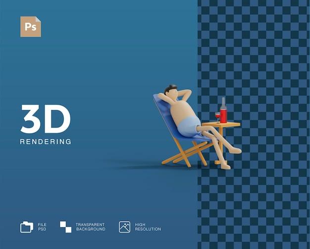 Illustration de plage de vacances 3d