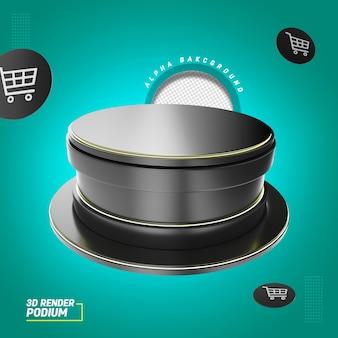 Illustration de podio 3d pour afficher la composition des produits en promotion