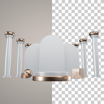 Illustration de podium de luxe 3d