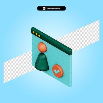 Illustration de rendu 3d approuvé par l'entreprise isolée