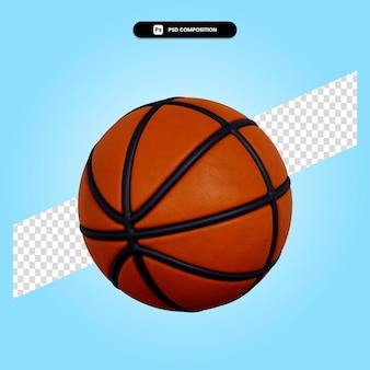 Illustration de rendu 3d de basket-ball isolée
