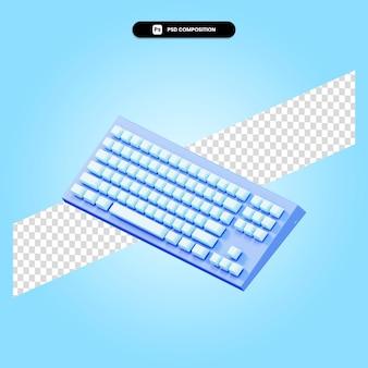 Illustration de rendu 3d clavier isolé