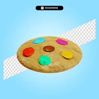 Illustration de rendu 3d cookie isolé