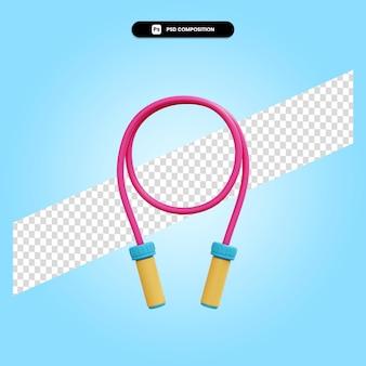 Illustration de rendu 3d corde à sauter isolé