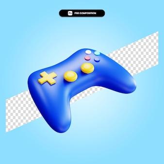 Illustration de rendu 3d de la manette de jeu isolée