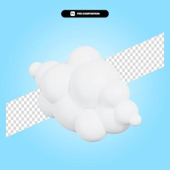 Illustration de rendu 3d nuage isolé