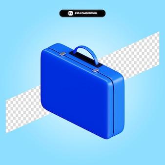 Illustration de rendu 3d porte-documents isolé