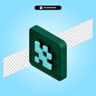 Illustration de rendu 3d qr code isolé