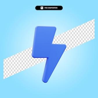 Illustration de rendu 3d thunderbolt isolé