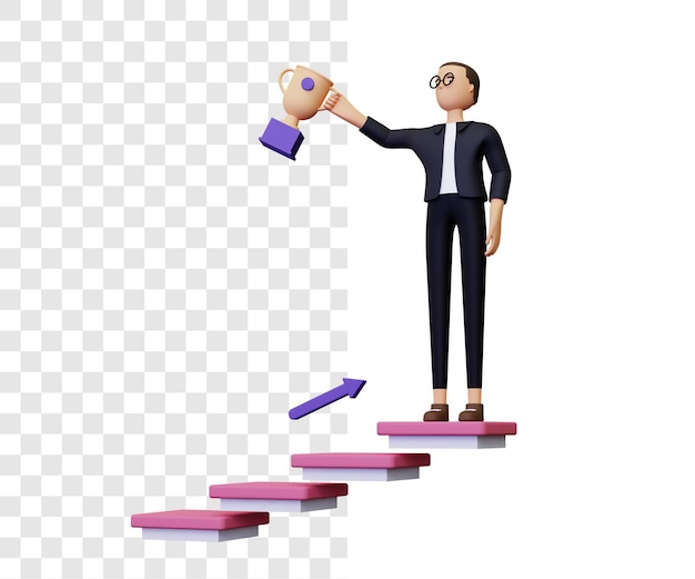 Illustration de réussite commerciale 3d