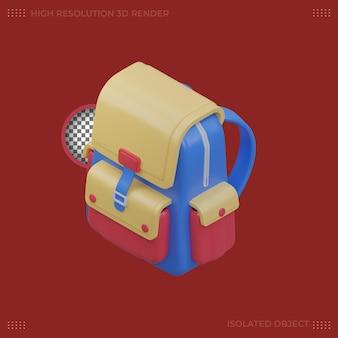 Illustration de sac de dessin animé de rendu 3d
