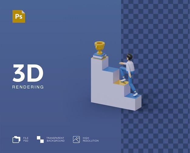 Illustration de succès 3d