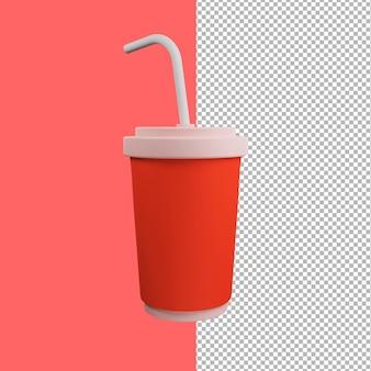 Illustration de tasse de jus 3d