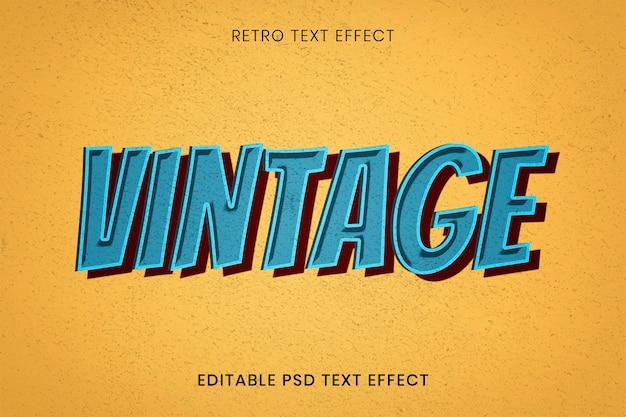 Illustration de typographie de style rétro mot vintage