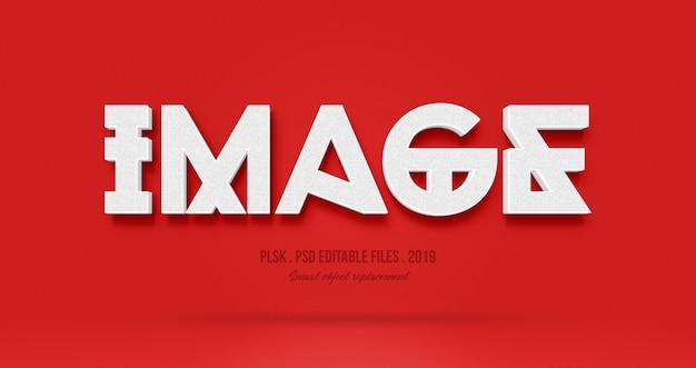 Image 3d effet de style de texte