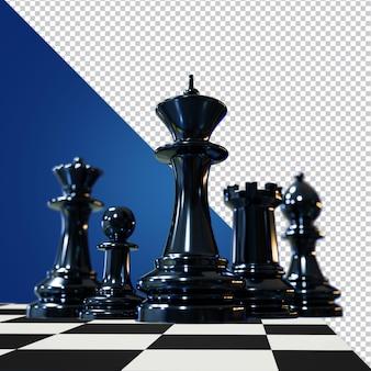 Image isolée de rendu 3d d'échecs