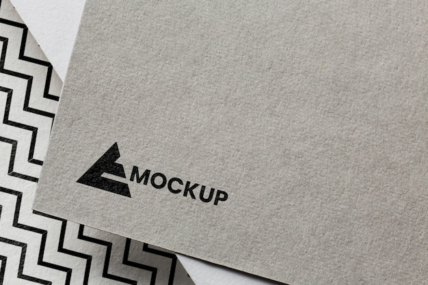 Image de marque d'entreprise sur l'assortiment de maquettes de cartes