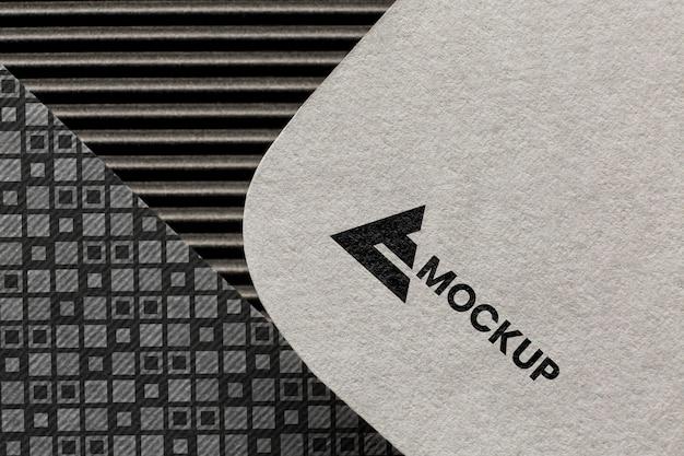 Image de marque de l'entreprise sur la maquette de la carte