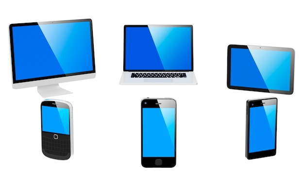Image tridimensionnelle des appareils numériques