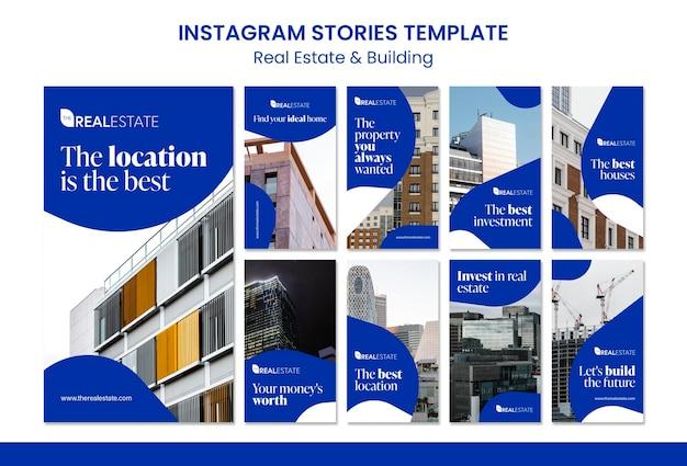 Immobilier et construction d'histoires instagram