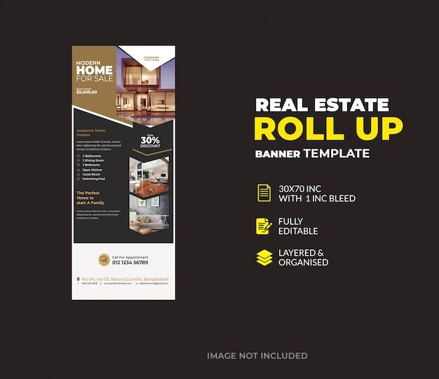 Immobilier d'entreprise roll up modèle de bannière