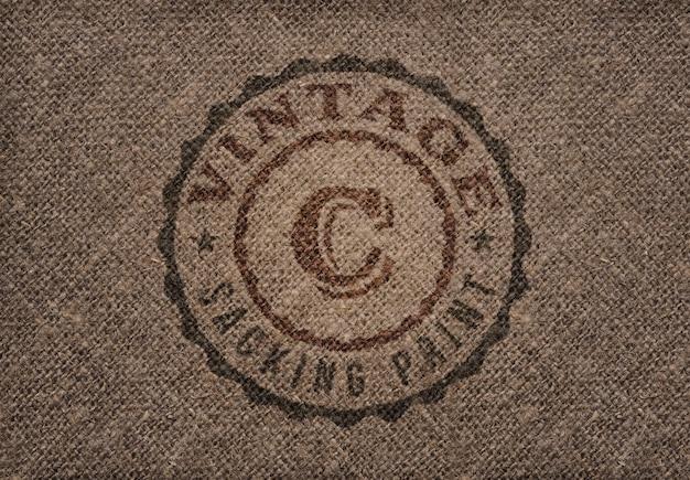 Impression de sac vintage