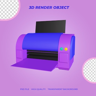 Imprimante d'icnes de rendu 3d