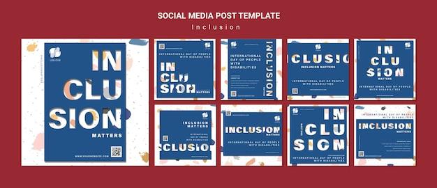 L'inclusion compte les publications sur les réseaux sociaux