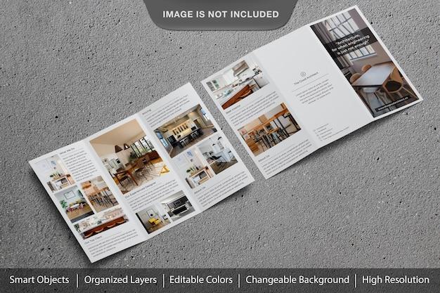 Incroyable brochure à trois volets réaliste ou maquette de flyer