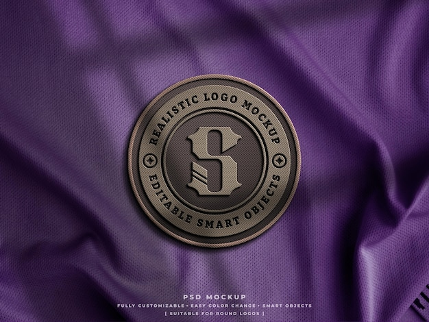 Insigne de logo en fibre de carbone ou maquette de patch sur tissu jersey