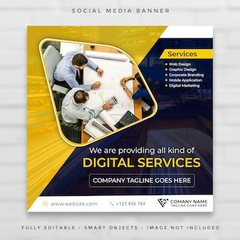 Instagram et facebook post modèle d'entreprise