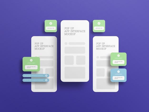 Interface D'application Avec Maquette D'écran Contextuel PSD Premium
