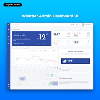 Interface utilisateur du tableau de bord d'administration web de sailsmith-weather